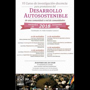VI Curso de investigación-docencia para promotores del desarrollo autosostenible de una comunidad o red de comunidades @ Anexo/Auditorio