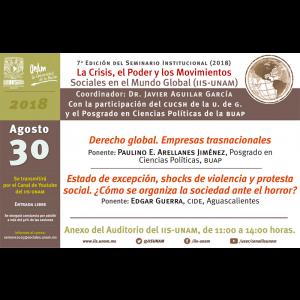 Seminario La Crisis, el poder y los movimientos sociales en el mundo global @ Anexo