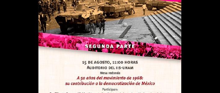 A 50 años del movimiento de 1968: su contribución a la democratización de México