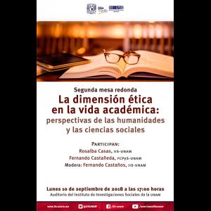 Segunda mesa redonda La dimensión ética en la vida académica, perspectivas de las Humanidades y las Ciencias Sociales @ Auditorio