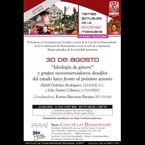 """""""Ideología de género"""" y grupos neoconservadores: desafíos del estado laico frente al próximo sexenio @ Casa de las Humanidades"""