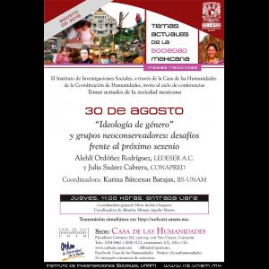 """Ideología de género"""" y grupos neoconservadores: desafíos frente al próximo sexenio @ Casa de las Humanidades"""