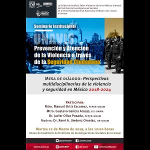 Perspectivas multidisciplinarias de la violencia y seguridad en México 2018-2024 @ Anexo