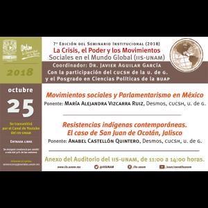 Seminario La Crisis, el poder y los movimientos sociales en el mundo global (octubre) @ Anexo