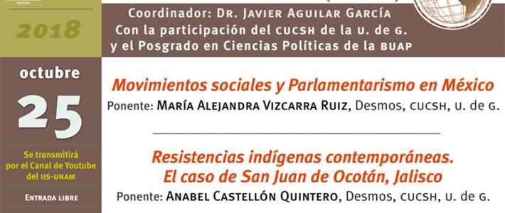Seminario La Crisis, el poder y los movimientos sociales en el mundo global (octubre)