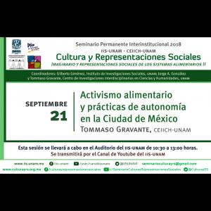 Activismo alimentario y prácticas de autonomía en la Ciudad de México @ Auditorio