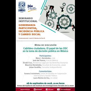 Cabildeo ciudadano. El papel de las OSC en la toma de decisión pública en México @ Anexo