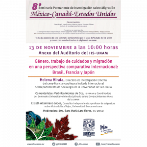 Género, trabajo de cuidados y migración en una perspectiva comparativa internacional: Brasil, Francia y Japón @ Anexo
