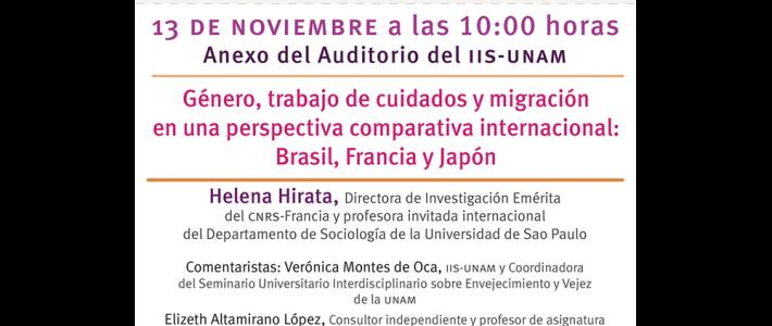 Género, trabajo de cuidados y migración en una perspectiva comparativa internacional: Brasil, Francia y Japón