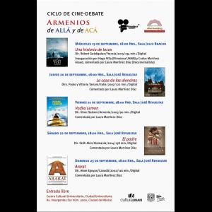 Ciclo de cine-debate Armenios de allá y acá @ Centro Cultural Universitario