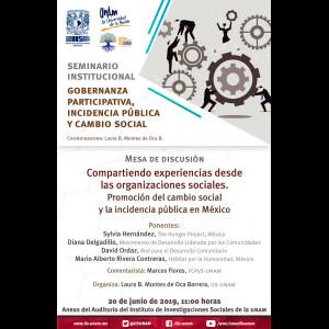 Compartiendo experiencias desde las organizaciones sociales. Promoción del cambio social y la incidencia pública en México @ Anexo