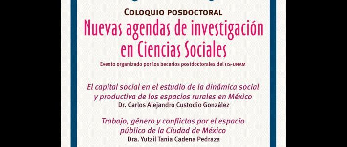 Nuevas agendas de investigación en Ciencias Sociales (noviembre)
