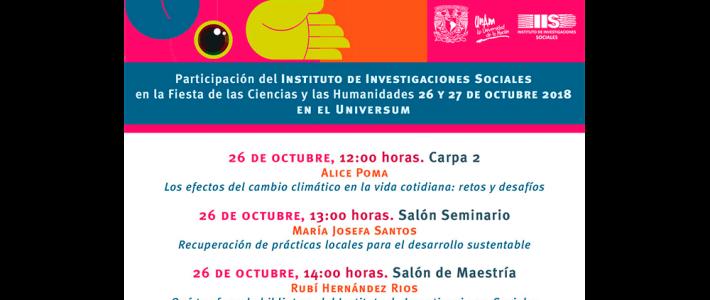 Participación del IIS-UNAM en la Fiesta de las Ciencias y las Humanidades 2018