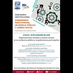Organizaciones sociales y actores locales en la incidencia pública y la gobernanza participativa @ Anexo