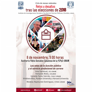 Los retos de la función pública y el servicio profesional de carrera @ Auditorio Pablo González Casanova, FCPyS