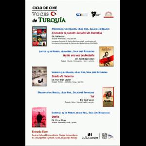 """Ciclo de cine """"Voces de Turquía"""" @ Centro Cultural Universitario"""