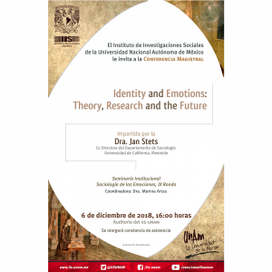 Identity and Emotions: Theory, Research and the Future @ Auditorio