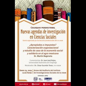 ¿Apropiadas o impuestas? Caracterización organizacional y estudio de caso de la economía social y solidaria en el agro mexicano @ Anexo