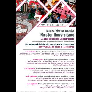 Barra de televisión educativa Mirador Universitario @ Transmisión por TV UNAM
