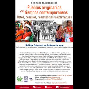 Seminario de actualización pueblos originarios en tiempos contemporáneos. Retos, desafíos, resistencias y alternativas @ Auditorio