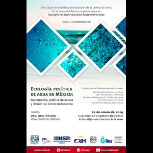 Ecología política de agua en México: Gobernanza, política de escala y dinámica socio-naturaleza @ Auditorio