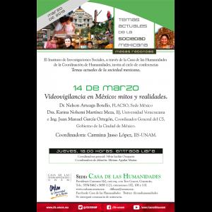 Videovigilancia en México: mitos y realidades @ Casa de las Humanidades
