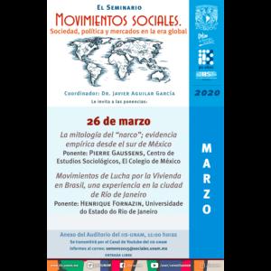 Seminario Movimientos Sociales. Sociedad, Política y Mercados en la Era Global (marzo) @ Anexo