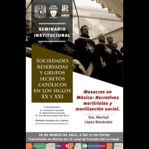 Masacres en México: Narrativas martirales y movilización social @ Transmisión por Youtube