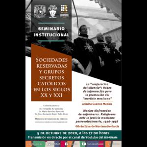 Seminario Sociedades Reservadas y Grupos Secretos Católicos en los Siglos XX y XXI (octubre) @ Transmisión por Youtube