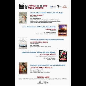 """Ciclo de cine """"La música en el cine de Medio Oriente"""" @ Centro Cultural Universitario"""