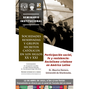 Participación social, Fe y resistencia: Socialismo cristiano en América Latina @ Transmisión por Youtube