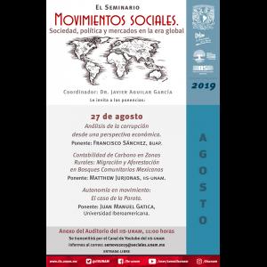 Seminario Movimientos Sociales. Sociedad, Política y Mercados en la Era Global (agosto) @ Anexo