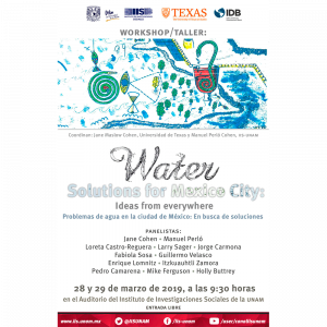 Water solutions for Mexico City: Ideas from everywhere. Problemas de agua en la Ciudad de México: En busca de soluciones @ Auditorio