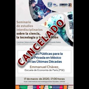 (CANCELADO) Políticas Públicas para I&D Privada en México en las Últimas Décadas @ Aula 2