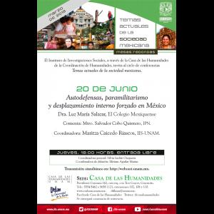 Autodefensas, paramilitarismo y desplazamiento interno forzado en México @ Casa de las Humanidades