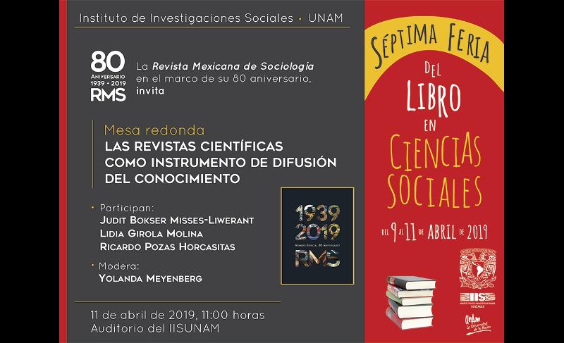 Mesa redonda en el marco del 80 Aniversario de la Revista Mexicana de Sociología