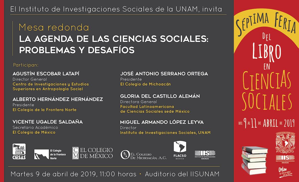 """Mesa redonda """"La agenda de las ciencias sociales: problemas y desafíos"""""""