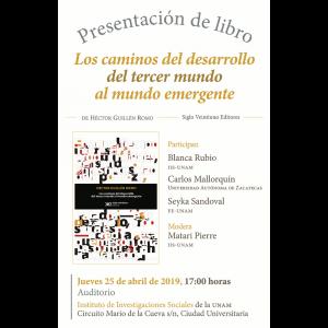 """Presentación del libro """"Los caminos del desarrollo del tercer mundo al mundo emergente"""" @ Auditorio"""