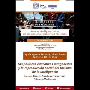 Las políticas educativas indigenistas y la reproducción social del racismo de la inteligencia @ Auditorio