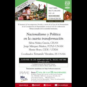 Nacionalismo y Política en la cuarta transformación @ Casa de las Humanidades