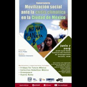 Movilización social ante la crisis climática en la Ciudad de México @ Auditorio