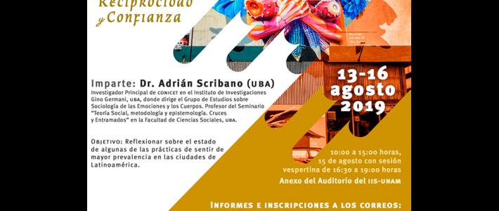 """Curso """"Emociones y políticas de las sensibilidades en la ciudad: amor, reciprocidad y confianza"""""""