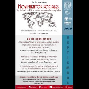 Seminario Movimientos Sociales. Sociedad, Política y Mercados en la Era Global (septiembre) @ Anexo