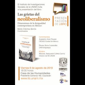 """Presentación del libro """"Las grietas del neoliberalismo. Dimensiones de la desigualdad contemporánea en México"""" @ Casa de las Humanidades"""