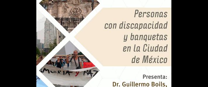 Personas con discapacidad y banquetas en la ciudad de México