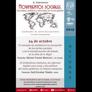 Seminario Movimientos Sociales. Sociedad, Política y Mercados en la Era Global (octubre) @ Anexo