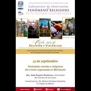 Postulados morales y religiosos del crimen organizado en Michoacán @ Anexo