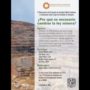 ¿Porqué es necesario cambiar la ley minera? @ Auditorio