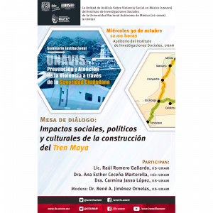 Impactos sociales, políticos y culturales de la construcción del Tren Maya @ Auditorio