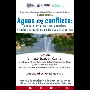Aguas en conflicto: conocimiento, política, derechos y lucha democrática en tiempos regresivos @ Auditorio